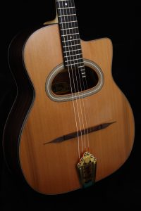 Guitare ALD la Brune table cèdre